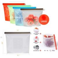 PANACHE Zip Lock Seal Food Grade Silicone Resuable Bag Plastik Makanan