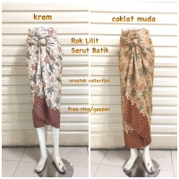 Rok Lilit Serut Batik R011 Bawahan wanita wrap skirt kebaya pesta