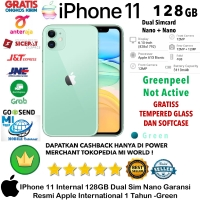 Apple IPhone 11 128 GB iP 11 128GB Garansi Resmi-Inter-Green-Dual-Sim