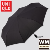 UNIQLO Umbrella Payung Compact Lipat Tahan Angin Black
