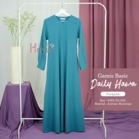 Gamis Basic Daily Hawa Turquoise