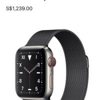 Apple Watch Series 5 Titanium Case With Modern Buckle Black 40mm