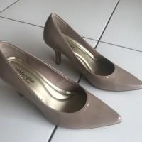 Sepatu cewek comfort plus payless lancip heels 7cm Glossy sz 6.5