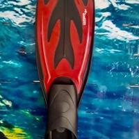 Scuba Diving Snorkel Kaki Katak Fins Closed Heels F - 034 - M Red