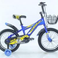 Sepeda Anak Genio Deo 16 by United ada Keranjang Roda Samping Nyala