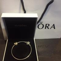 Pandora bangle set with charm ori