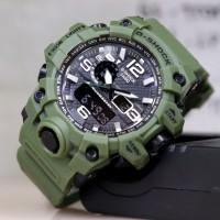 JAM TANGAN NEW G SHOCK GWG1000 strap rubber hijau dualtime