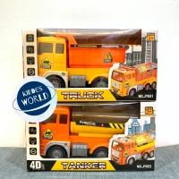 Mainan Truck dan Tanker Heavy Duty Miniature 4D Light