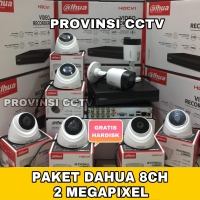 Paket CCTV Dahua 16 Channel 8 Kamera 2MP Komplit / Cooper Series