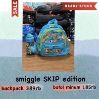 SMIGGLE SKIP ANIMAL SET BOTTLE + BACKPACK - tas ransel TK SMIGGLE