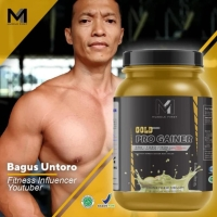 MUSCLE FIRST GOLD PRO MASS GAINER 2lbs HALAL + FREE SHAKER