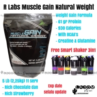 R Labs Muscle Gain Natural Weight Suplemen Fitness Gym Gainer 5lb