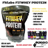Fitlabs FIT Labs Whey Protein Pembentukan Otot Fitness Gym Diet 5lb