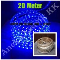 LAMPU LED STRIP SELANG SMD 5050 20M BIRU 220V 20 M METER OUTDOOR DEKOR