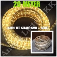 LAMPU LED STRIP SELANG SMD 5050 20M KUNING 220V 20 M METER OUTDOOR