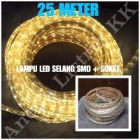 LAMPU LED STRIP SELANG SMD 5050 25M KUNING 220V 25 M METER OUTDOOR