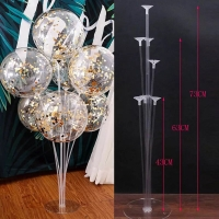 Tatakan balon / stick cup standing balon / tiang dekorasi / gate balon