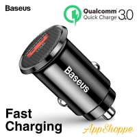 Baseus Charger Lighter Mobil Mini USB 3.0 Single Port QUICK CHARGE