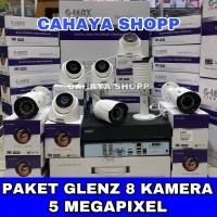 PROMO PAKET CCTV GLENZ 8 CHANNEL 8 KAMERA 5MP REAL FULL HD + HDD 1TB