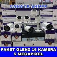 PROMO PAKET CCTV GLENZ 16 CHANNEL 16 KAMERA 5MP REAL FULL HD + HDD 2TB