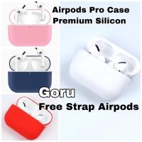 Airpods Airpod Pro Case silicone Casing Premium Warna free tali Strap