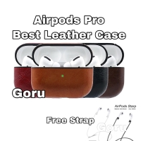 Casing Airpods Airpod PRO Leather case kulit NEW free Hanger Strap