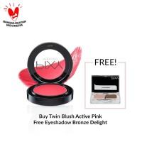 [Free Eyeshadow Bronze Delight] PIXY Twin Blush Active Pink - 02