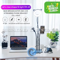 Live Streaming Stand Ring Light COSTA RK-46 Mobile Microphone 3 -in1