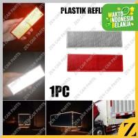 Plastik Reflektor Reflector Warning Plat Stiker Mobil Truk Keamanan