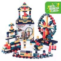 Mainan Anak Susun Block dengan Plat Lego ~ BUILDING BLOCK DARK 260pcs