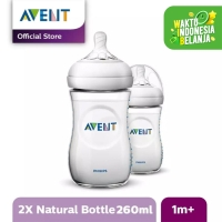 Philips Avent BOTTLE NATURAL 2.0 260ML/9OZ TWIN PACK SCF693/23 - Putih