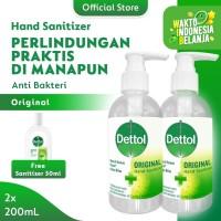 Dettol Hand Sanitizer Original 200ml x 2pcs [FREE Sanitizer 50ml NEW]