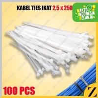 kabel ties 25cm Putih 250mm kabel tis 25 cm isi 100