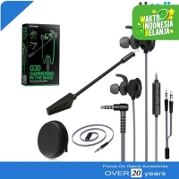 Plextone G30 Mic Stereo Bass Gaming Hammerhead Earphone Headset Hitam
