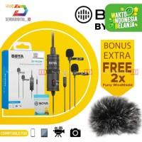 Boya BY-M1DM Microphone Dual Omni Directional Lavalier Mic Original