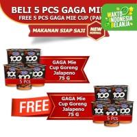 Mie Cup GAGA100 Extra Pedas Goreng Jalapeno Beli 5pcs FREE 5pcs (GG65)