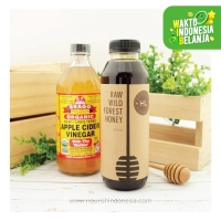 BRAGG Apple Cider Vinegar 473 Ml + Honey Life Raw Wild Forest 500 Ml