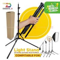 Light Stand Costa CF-L3185 Lipat Tripod Lampu Studio 3 Section 185cm