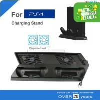 Cooling Fan Kipas Dual Charging Vertical Stand Dock PS4 FAT