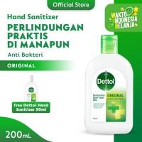 Dettol Hand Sanitizer Flip top 200ml FREE Hand Sanitizer 50ml