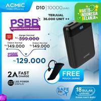 ACMIC D10 10000mAh Mini PowerBank (Digital Display + 2A Fast Charge)