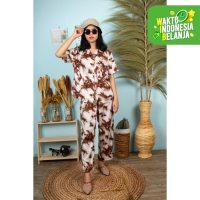 FortKlass MIX One Set TIE DYE Motif Rayon Stelan DailySet Bali DYE CUT