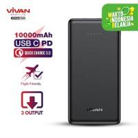 VIVAN Powerbank 3 Output 2 Input Fast Charging - Bergaransi - VPB-K10