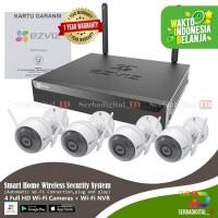 EZVIZ C3wn Ip Cam Outdoor Paket Deluxe 4 CCTV Ip Cam NVR Storage