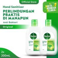 Dettol Hand Sanitizer Original 200 ml Flip top Bottle - 2 Pcs