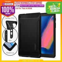 Case Galaxy Tab A 8.0 SPIGEN Rugged Armor Softcase Carbon Fiber Casing