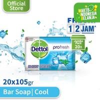 Sabun Batang Anti Bakteri Dettol Cool 105 gr (20 pcs) - Super Hemat