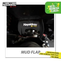Hayaidesu Mud Flap Penahan Lumpur Motor Honda Vario FI - Japan Quality - Hitam