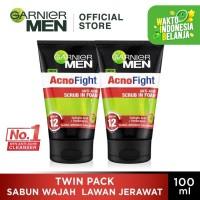 Garnier Men Acno Fight 6 in 1 Foam 100ml (Twin Pack)