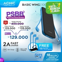 ACMIC Basic Wing 10000mAh PowerBank with Triple 2A Fast Charge